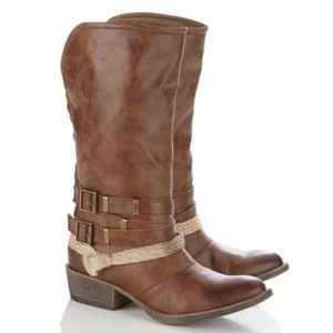 coconuts by matisse sheriff  cognac cowboy boots 7